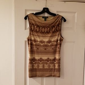 Ralph Lauren Silk Blend Sleeveless Top
